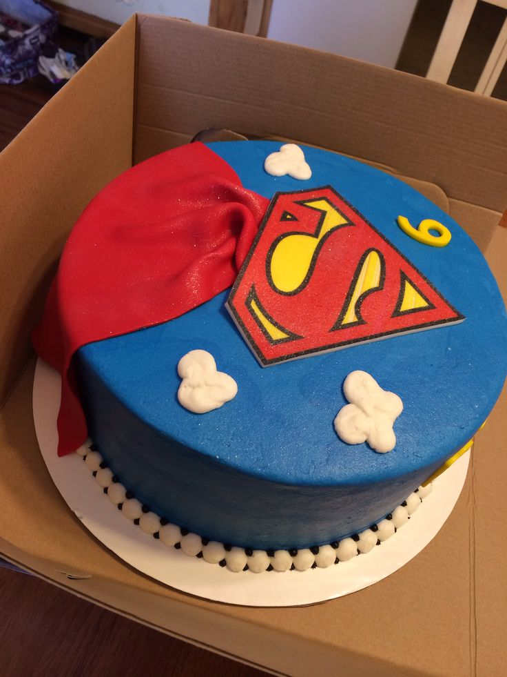 Cake Images Superman : Superman Birthday Cake My Cakes Pinterest