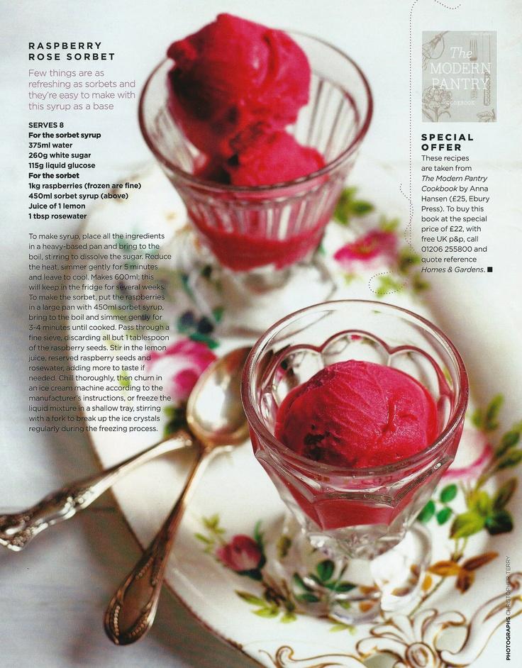 Raspberry-rose sorbet #raspberry #rose #sorbet