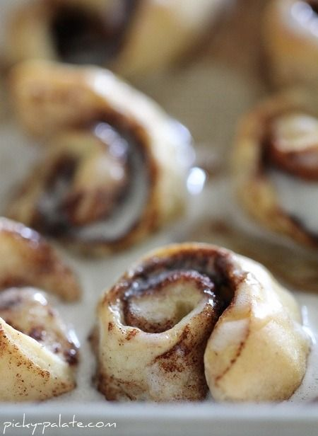 Itty Bitty Cinnamon Roll Bites: one 10 count can biscuits, 5 tbls ...
