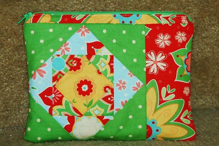 Paper pieced zip pouch tutorial - Beautiful fabrics.