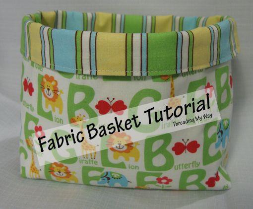 Threading My Way: Fabric Basket Tutorial...