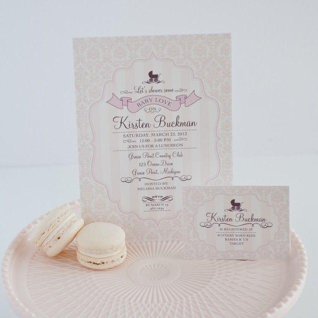 elegant baby shower invitation babyshower pinterest