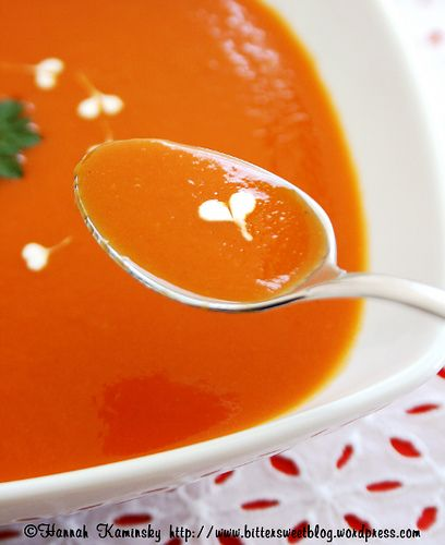 Roasted red pepper soup | soups and chilis | Pinterest