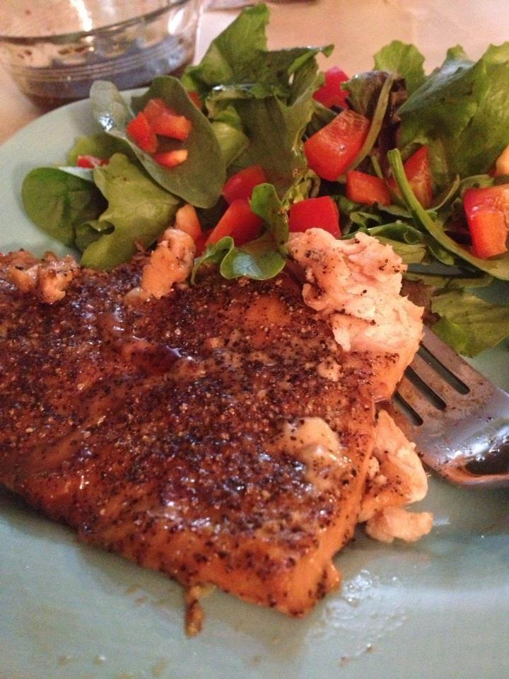 ... Food: Maple-Glazed Peppered Salmon Recipe (YUM!) - Kate Updates