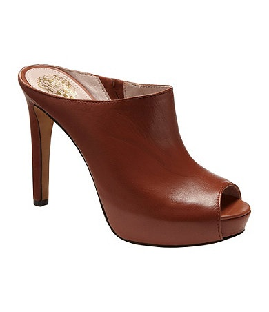 Vince Camuto Jacell Peep-Toe Clogs.$110.00 Available at Dillards.com