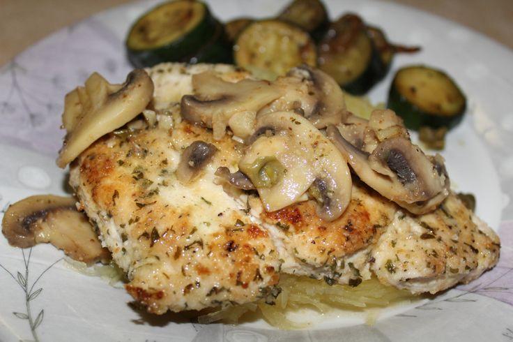 Chicken Scallopini with Spaghetti Squash | Healthy Chicken Dishes | P ...