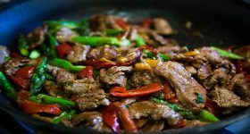 Flank Steak Stir-Fry with Asparagus and Red Pepper Recipe