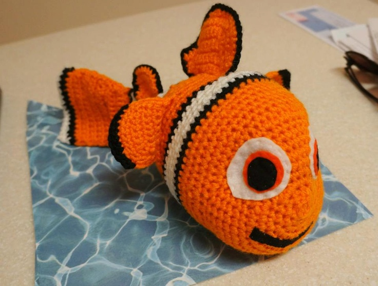 Amigurumi Sailor Octopus Pattern Free : Crochet Finding Nemo Inspired Clown FIsh Stuffed Animal ...