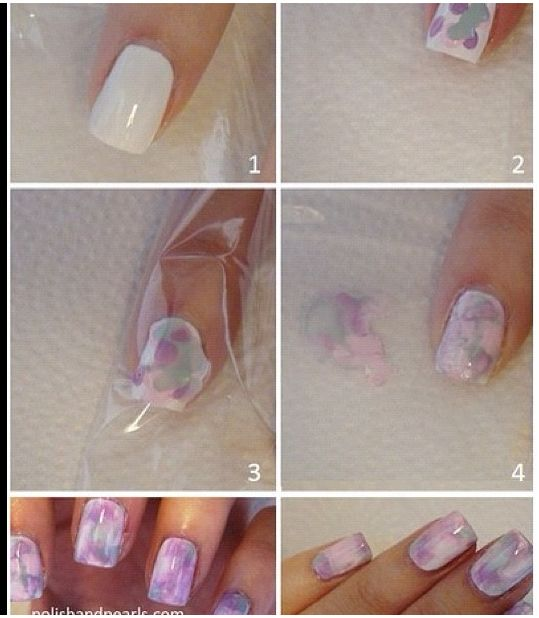 Marble Nail without water  NailArt Tutorials  Pinterest