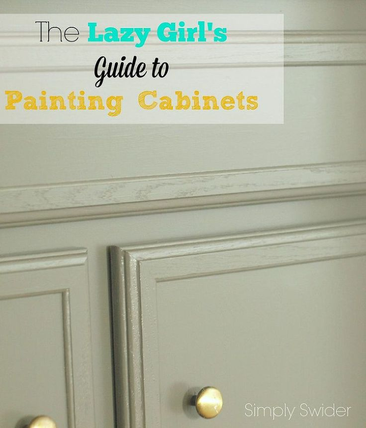 Lazy girl 39 s guide to painting cabinets for Best brush for painting kitchen cabinets
