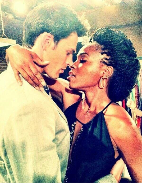 white girl kissing black man № 159777