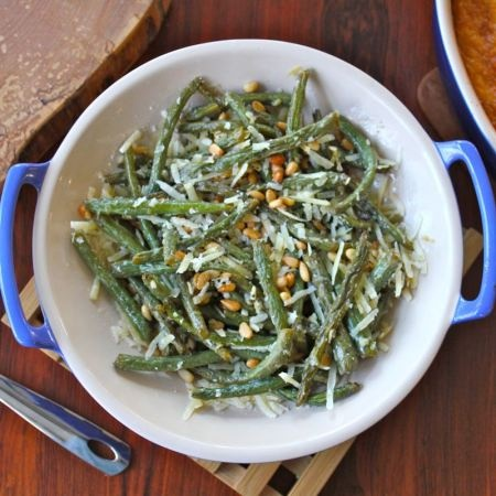 Roast Green Beans | Dinner Party Dishes! | Pinterest