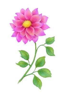 Free Flower Clip Art, Single Pink | Floral Art | Pinterest