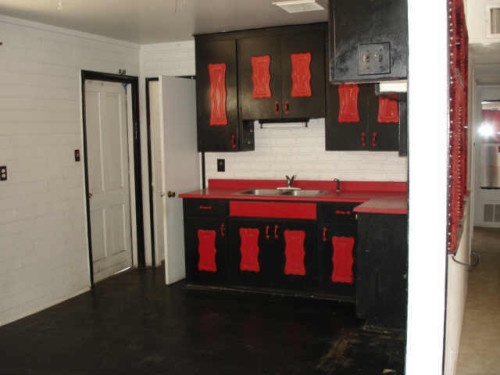 Red And Black Kitchen Cabinets House Ideas Pinterest