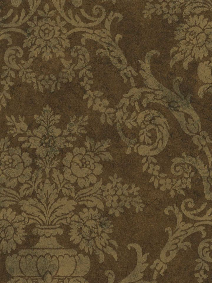 brown on brown damask wallpaper - photo #23