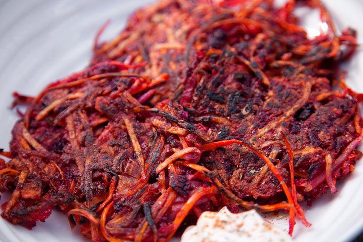 Root Vegetable Latkes w/ Vegan Sour Cream - COOKING Chanukah ...