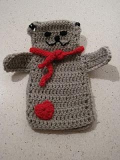 Tutorial for a Crochet Bear Puppet.