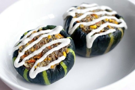 Stuffed Squash | Raw | Pinterest