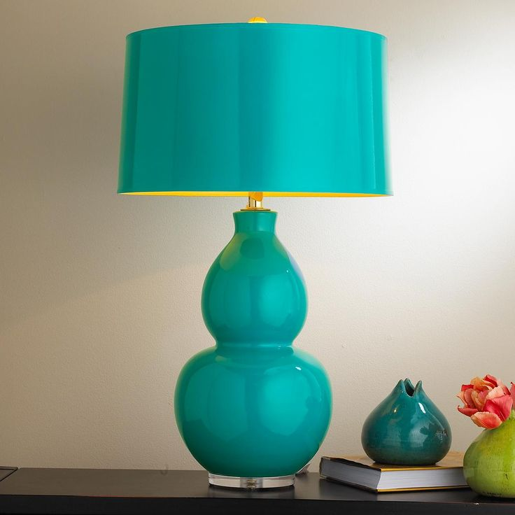pop color modern ceramic table lamp available in 10 colors. Black Bedroom Furniture Sets. Home Design Ideas