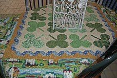 St. Patrick's Day Shamrock Quilt part 2