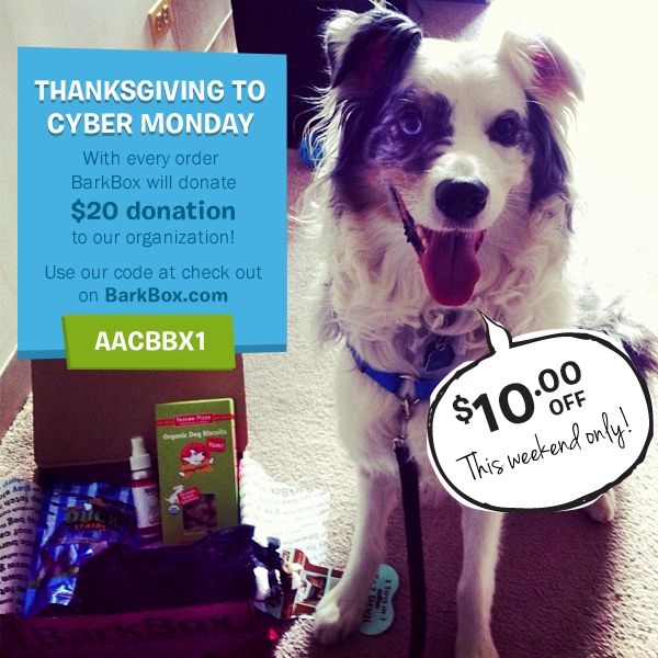gift for your pup, save $10, AND get our rescue a $20 donation ...