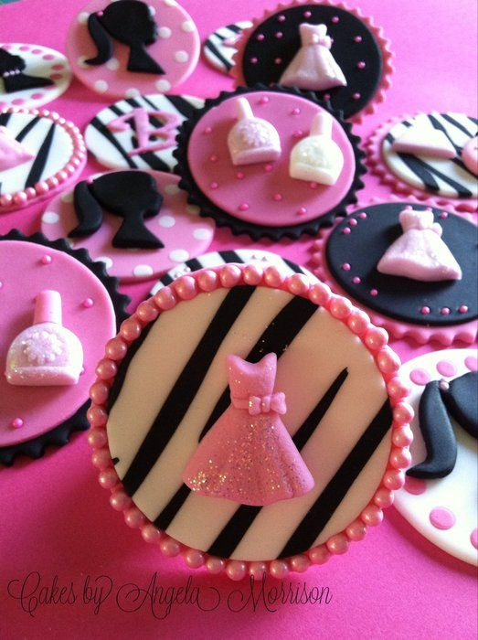 Barbie cupcake toppers