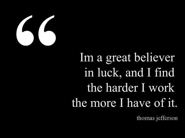 Feeling Lucky Quote Inspirational Motivational Luck