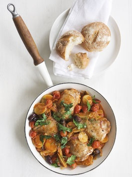 Braised Chicken With Tomatoes And Olives (Poulet Provencal) Recipe ...