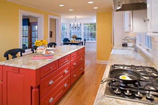 kitchen design by Ispiri Featuring a Coral  Peach  Pink Kitchen
