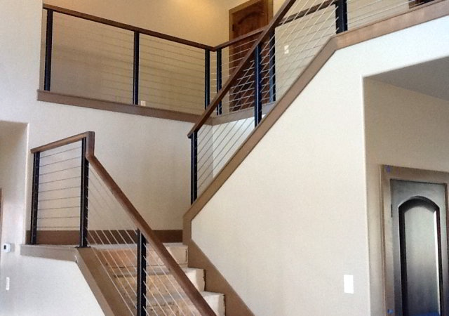 stair cable railing living room pinterest