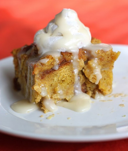 Pumpkin bread pudding | Food + Drink | Pinterest