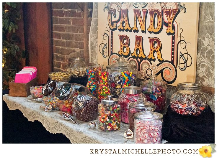 Candy Bar Idea Wedding Ideas Pinterest