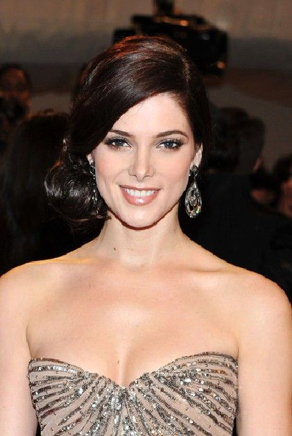 Side Swept Chignon Hairstyle  Ashley Greene Hairstyles: This is really an elegant hair style, this chignon is great for wedding! This hairstyle is best suited for those with oval face shapes and will need product for hold and shine.