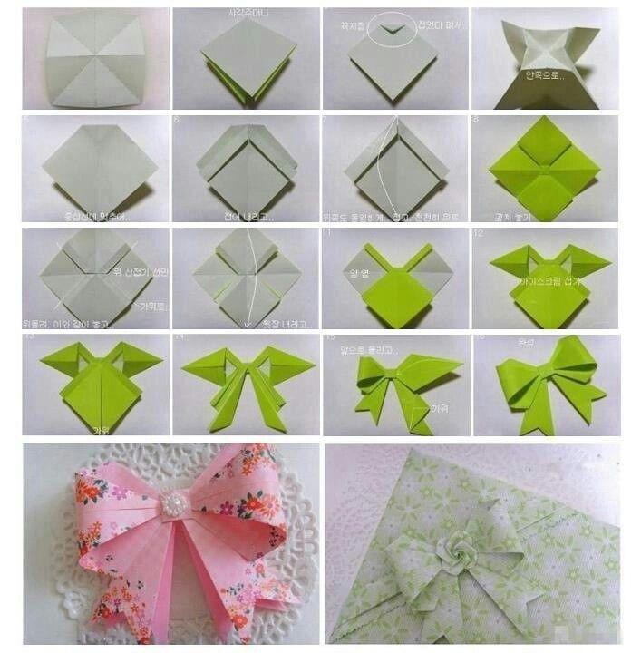 origami ribbon diy stuff pinterest