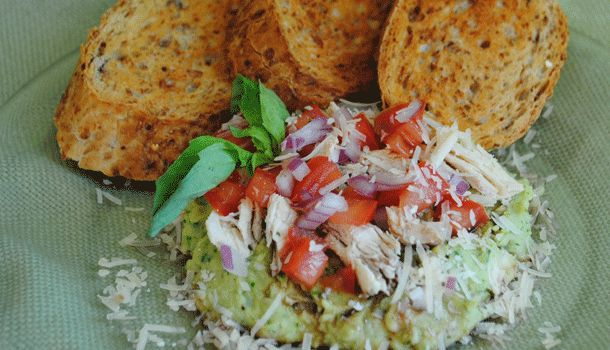 MEDITERRANEAN CHICKEN BEAN DIP - This quick and refreshing dip with ...