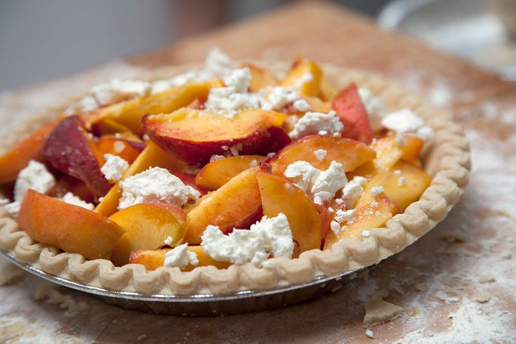 Peach & Goat Cheese Galette ©Kristen Hess/The Artful Gourmet - http ...