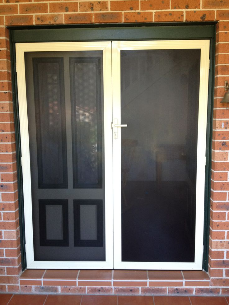 Pin by secureview security screens australia on security for Security doors for french doors