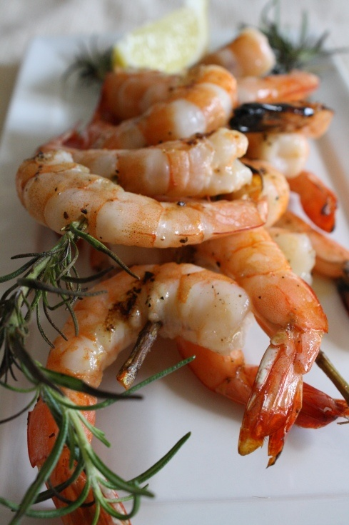 ... grilled shrimp with rosemary lemon and garlic grilled shrimp