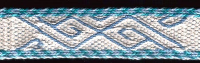 German tablet weavers meeting 2002. Missed hole