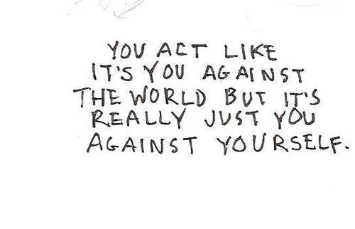 You act