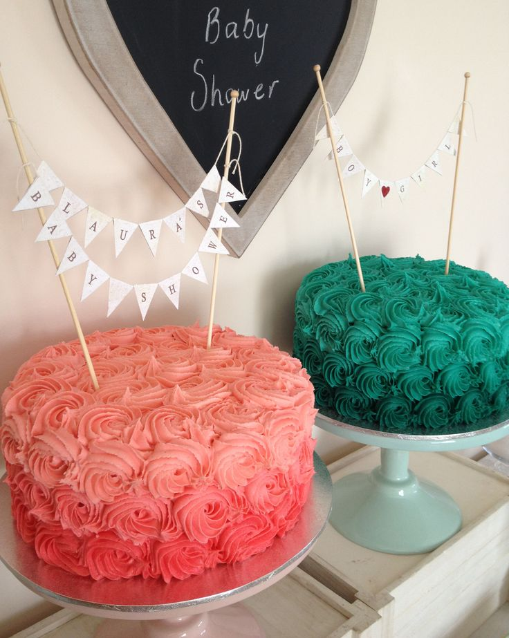 Roses Baby Shower Cakes - by Nada's Cakes Canberra