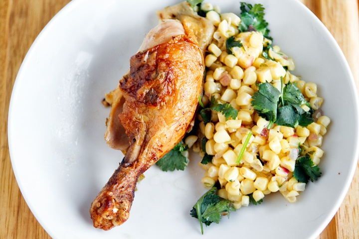 Roasted Corn Chowder Recipe With Chicken, Lime And ...
