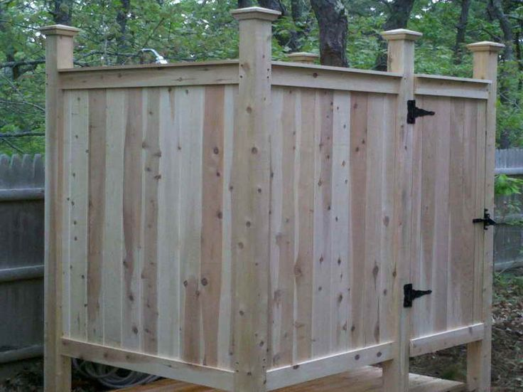 Diy Outdoor Shower Enclosure For The Home Pinterest