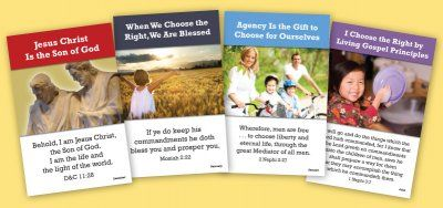 Primary posters. I also get the matching 11x17 monthly theme scripture ...