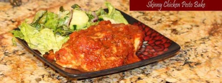 Skinny Chicken Pesto Bake #healthy #yum #quick #chicken #protein # ...