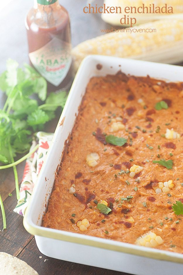 Cheesy, spicy chicken enchilada dip! Perfect for football games! @ ...