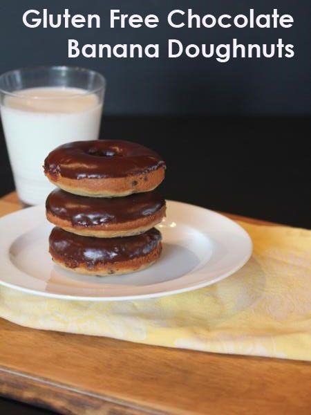 Gluten Free Chocolate Banana Doughnuts   Yummy   Pinterest