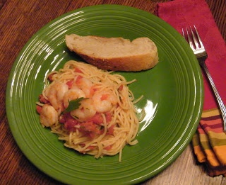 Candy Girl: Shrimp Pasta in a Foil Package