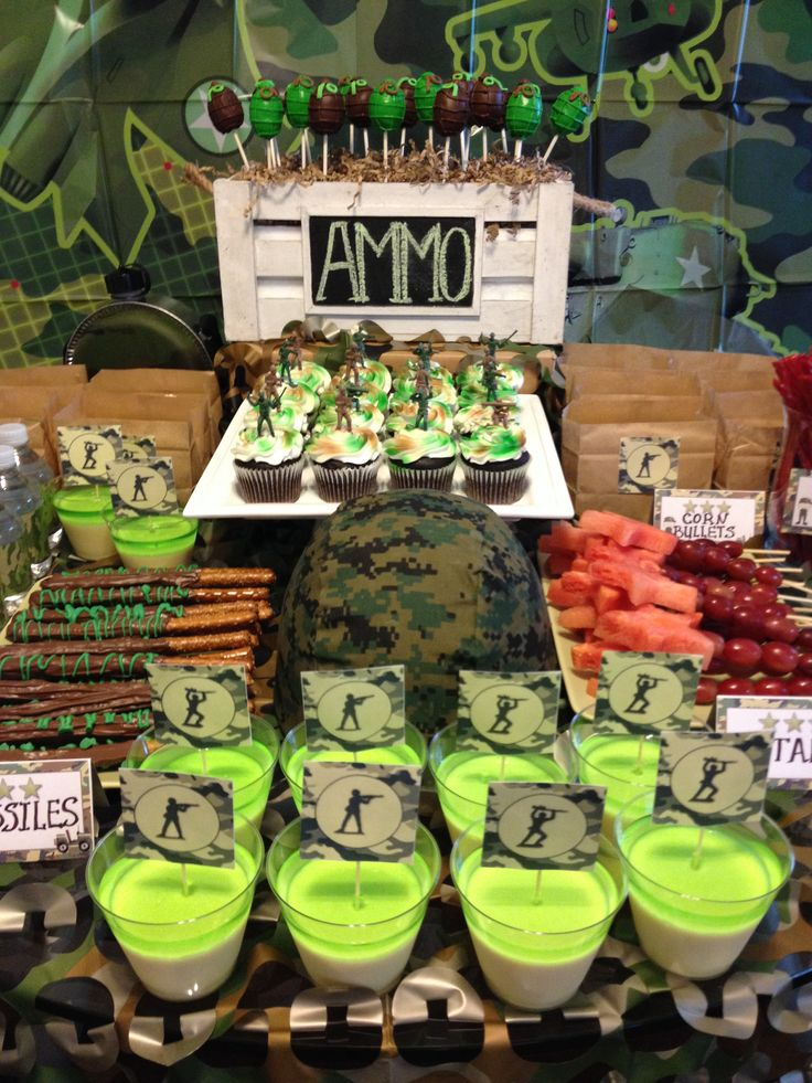 Army decor soldier party pinterest for Army party decoration ideas