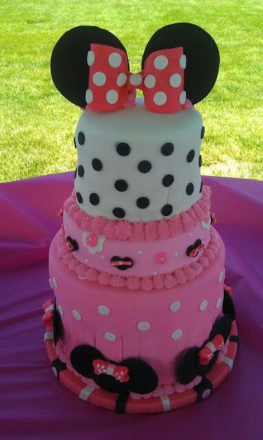 minnie mouse baby shower cake my baby shower ideas pinterest